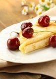 Pancake dolce del crepe Fotografia Stock
