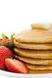 Pancake dorati Immagine Stock