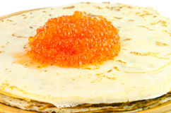 Pancake e caviale Immagine Stock Libera da Diritti