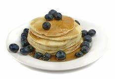 Pancake e mirtilli Fotografia Stock Libera da Diritti