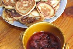 Pancake ed ostruzione fotografia stock