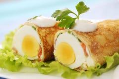Pancake with egg Stock Image