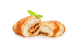 Pancake farciti Immagini Stock Libere da Diritti