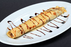 Pancake farcito Immagini Stock Libere da Diritti