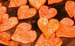 Pancake in forma di cuore Immagini Stock