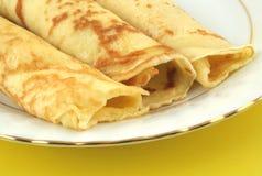 Pancake freschi sulla zolla Fotografia Stock