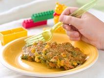 Pancake delle verdure fotografie stock