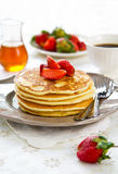 Pancake with strawberry Royalty Free Stock Image