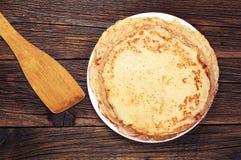 Pancake fritti Immagini Stock Libere da Diritti