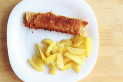 Pancake fritti con le patate Immagine Stock Libera da Diritti