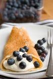 Pancake with fruit Stock Photography