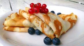 Pancake with fruit. Pancake with berries Royalty Free Stock Photos