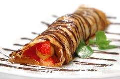 Pancake with fruits Royalty Free Stock Image