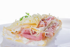 Pancake with ham and cheese Royalty Free Stock Photography