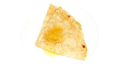Pancake with a honey Stock Photography