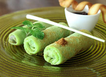 Pancake from indonesia royalty free stock photography