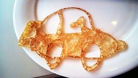 Pancake insolito fotografie stock libere da diritti