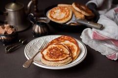 Pancake integrali lanuginosi Fotografia Stock