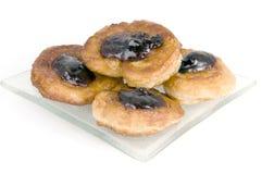 Pancake with jam Stock Image
