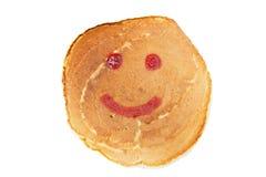 Pancake with jam. Isolated on white background Stock Image