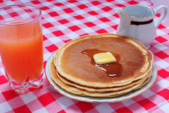 Pancake with juice royalty free stock photo