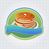 Pancake label. Label with pancake theme, suitable for cooking or restaurant Royalty Free Stock Photography