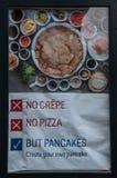 Pancake marketing board royalty free stock image