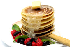Pancake with Mixed Berry royalty free stock photos