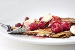 Pancake o crepes Immagini Stock