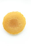 Pancake. One pancake isolated on white background royalty free stock photos
