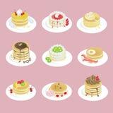 Pancake operati con lo sguardo differente 9 Fotografie Stock Libere da Diritti