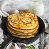 Pancake in a pan Stock Images