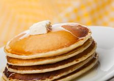 Pancake. Breakfast syrup carbohydrates hotcakes stack heat Royalty Free Stock Photos