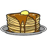 Pancake Party. A vector illustration of a Pancake Party Royalty Free Stock Photo