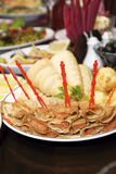 Pancake, pesci farciti Fotografia Stock Libera da Diritti