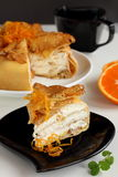 Pancake pie Crepe suzette Stock Photo