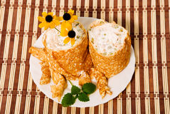 Pancake platter Royalty Free Stock Images