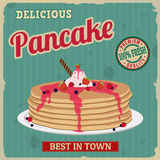 Pancake retro poster Royalty Free Stock Image