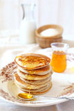 Pancake with rice milk and rice flour and ingredients Royalty Free Stock Images