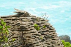 Pancake rock Stock Image