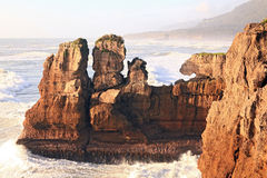 Pancake Rock In New Zealand Stock Photography