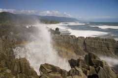 Pancake rocks Royalty Free Stock Photography