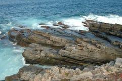 Pancake rocks. Near Admiralty Arch, Flinders Chase National Park, Kangaroo Island, South Australia stock photography