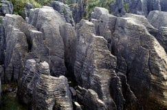 Pancake Rocks. Awaroa NP, New Zealand Stock Photos