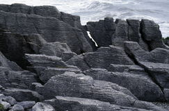 Pancake Rocks. A view of the unique rock formations of Pancake Rocks at Awaroa National Park, New Zealand Royalty Free Stock Images
