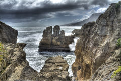 Pancake Rocks Royalty Free Stock Images