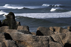 The Pancake Rocks. Pancake rocks in Punakaiki, South island, New Zealand Royalty Free Stock Images
