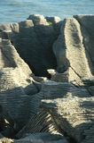 Pancake rocks. Lines and pattern on pancake rocks Stock Photos