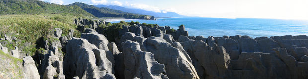 Pancake Rocks Background Royalty Free Stock Images