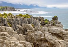 Pancake Rocks near Punakaiki Royalty Free Stock Photo